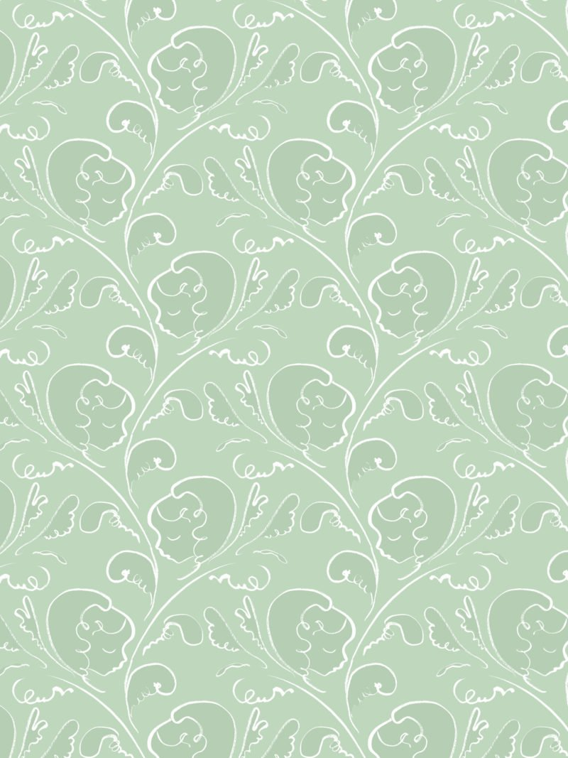Dream chalk green wallpaper