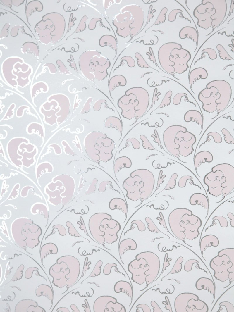 Dream silver pink wallpaper