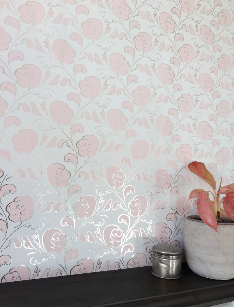 Dream silver powder pink wallpaper