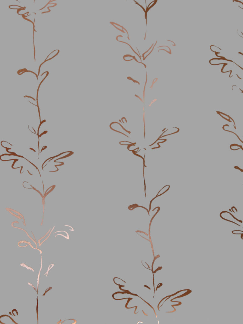 Stem copper grey wallpaper