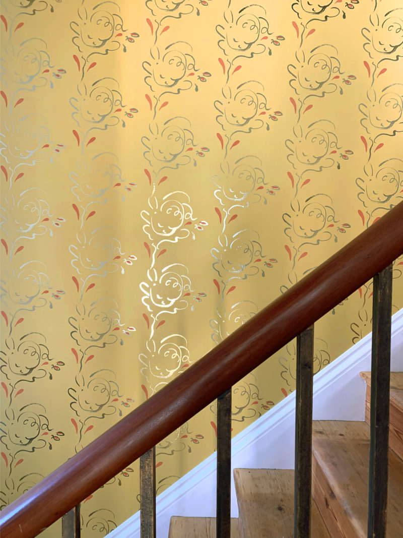 Seraph gold yellow wallpaper
