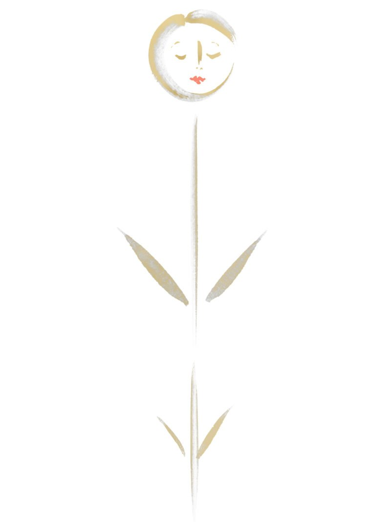 Silene Wallflower in gold white with coral lips
