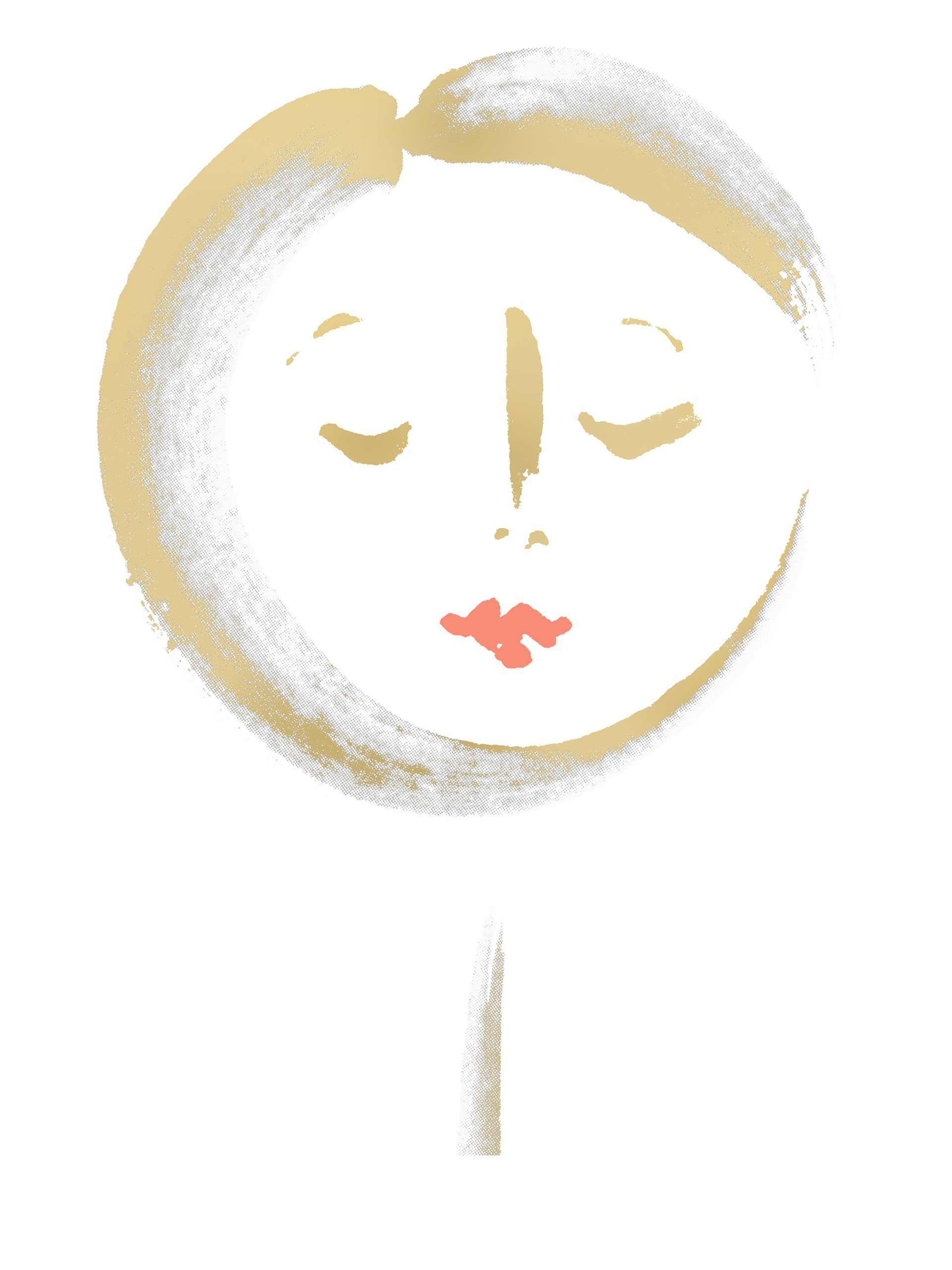 Silene in gold white with coral lips